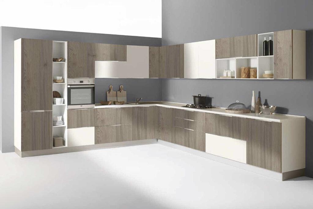 cucina Mia colore rovere grigio bianco