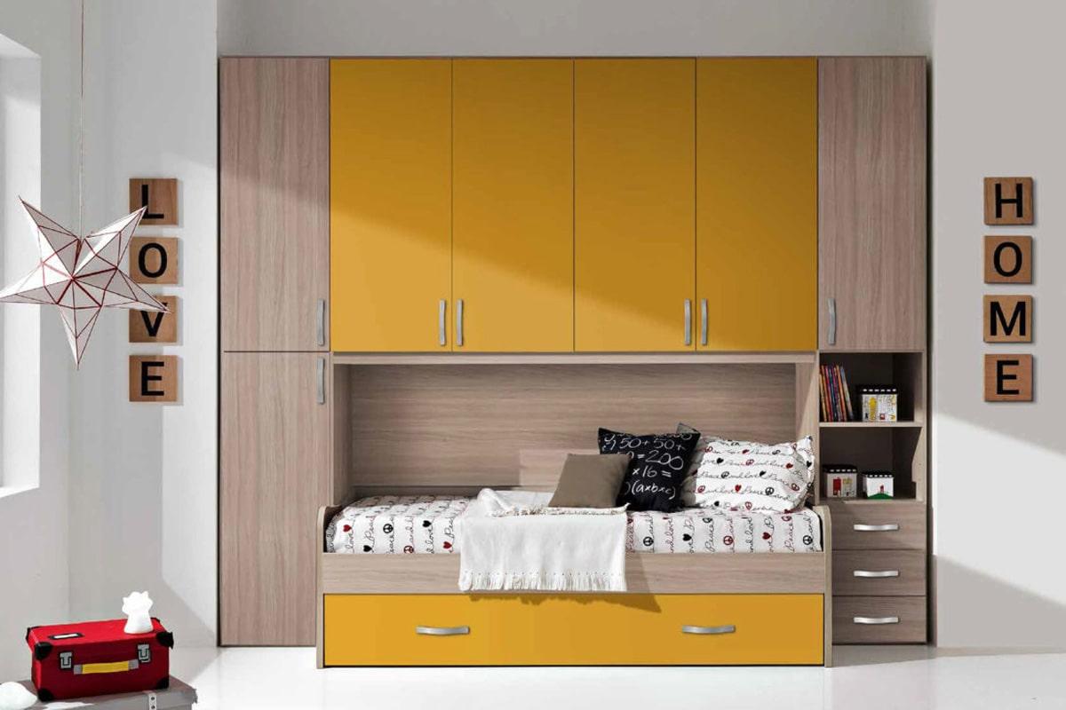 armadio ponte arancione beige