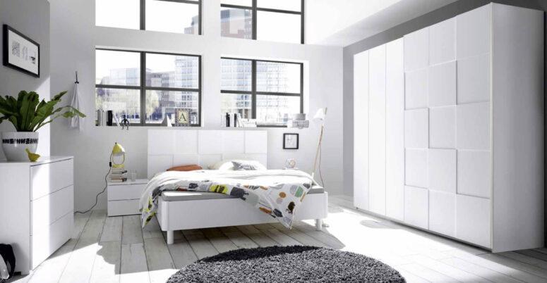 camera da letto Ottica Bianco