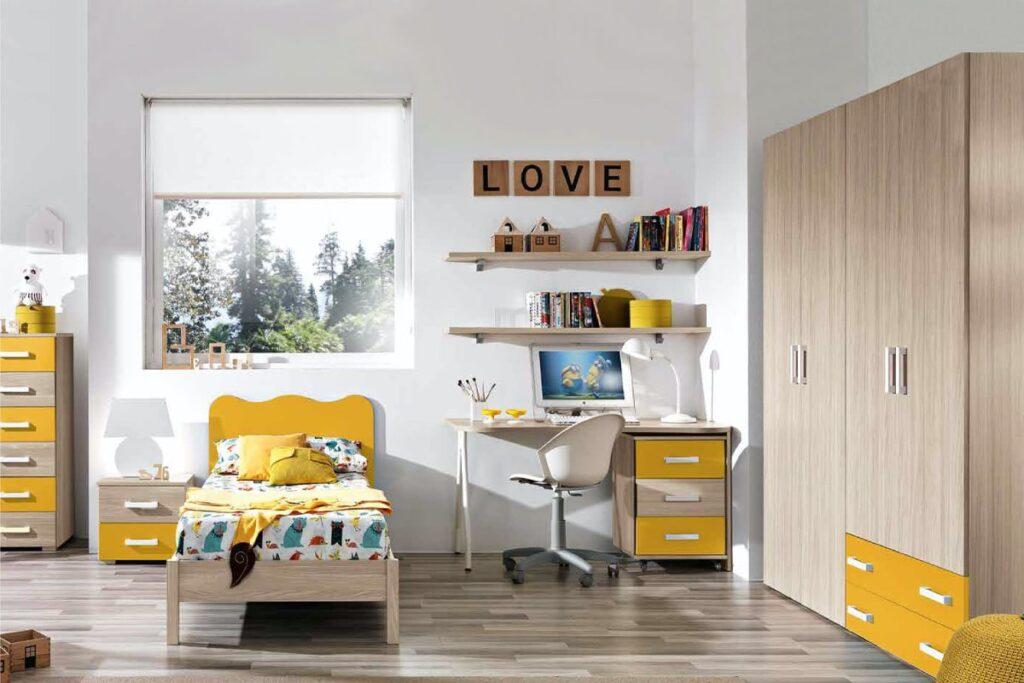 cameretta Omnia beige giallo
