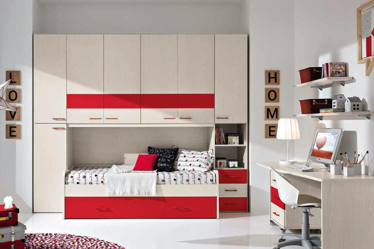 cameretta Omnia beige rosso