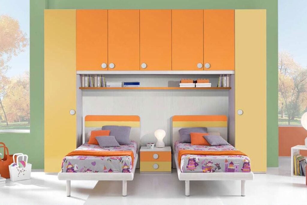 cameretta moderna arancione