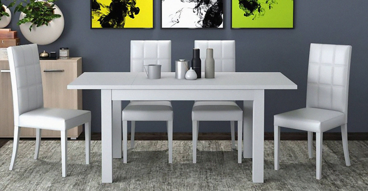 tavolo firenze 140x85 allungato bianco