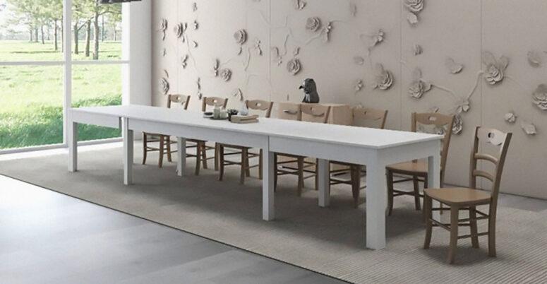 tavolo Super allungabile colore bianco